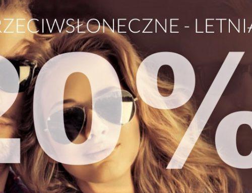 Okulary przeciwsłoneczne -20%